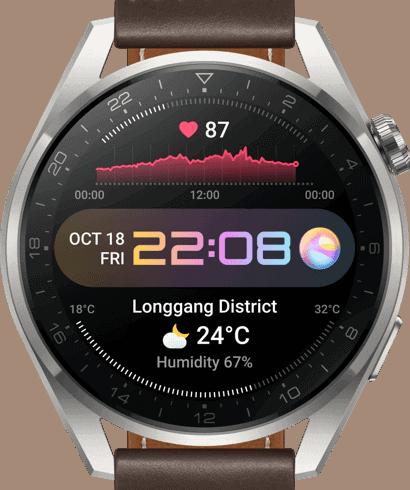 Display der Huawei Watch 3 Pro