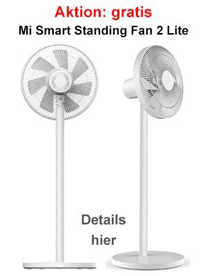 Xiaomi Mi Smart Standing Fan 2 Lite (Ventilator) gratis