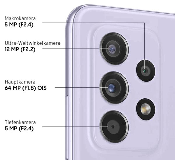 Kamera vom Samsung Galaxy A52s 5G
